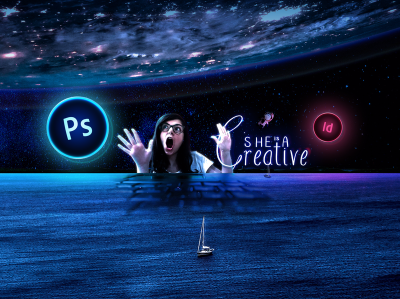 She is a Creative | Youtube Cover indesign manipulation photoshop art photoshop manipulation photoshop graphicdesign design youtube youtube banner