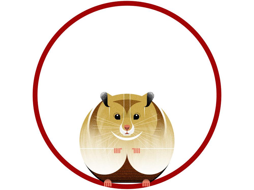 Linda. vector illustration vector nature illustration wildlife art minimal geometric nature wildlife pets hamster animals photoshop texture digital design illustration