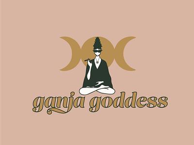 Ganja Goddess illustration branding brand identity logo logo design graphic design design
