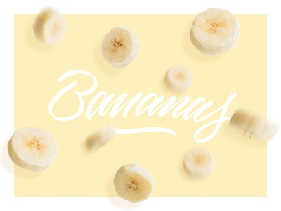 Going bananas photography brush lettering typograhpy psd photoshop banana fruit