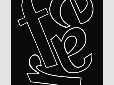 Fear illustrator photoshop type font lettering design poster