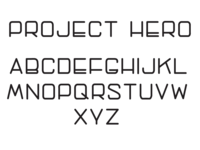 Typeface | Project Hero