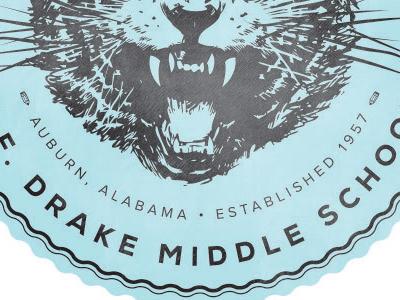 Drake branding school mark badge