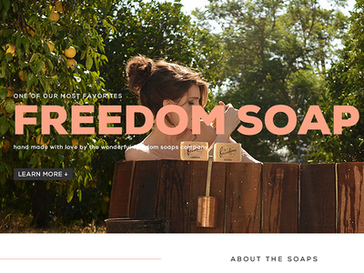 Freedom Soaps Page product web type photography