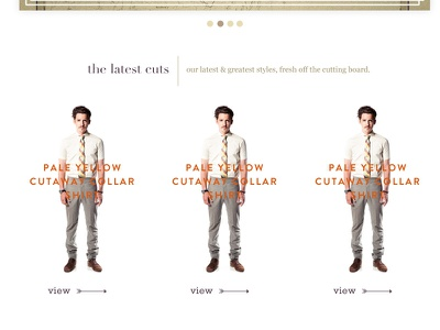 Second attempt at the home page. hipster clothing