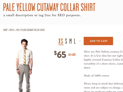 Product View bigcartel shopping shirts ecommerce typography