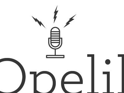 Opelika is Music logo typography