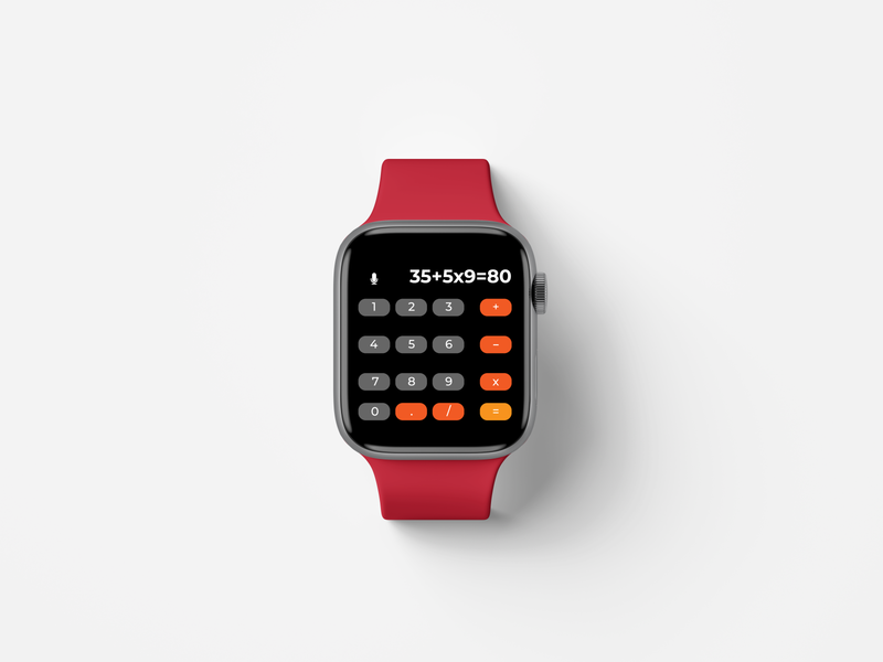 Daily Ui #004 - Calculator apple watch design apple watch watch calculator daily ui 004 ux ui ux design ui design ui daily ui challenge daily ui