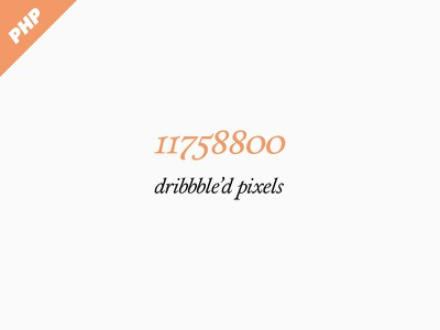 Dribbbled Pixels Counter dribbble pixel count php script api free tool