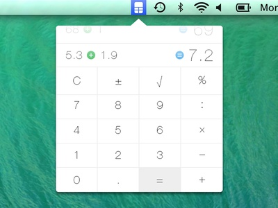 Calculatron calculator calc flat mavericks icons numbers