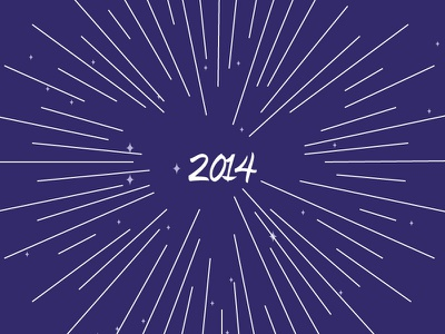 Welcome 2014 new year eve stars 2014 sunburst