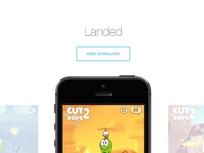 Landed landing iphone ios apple product app land page