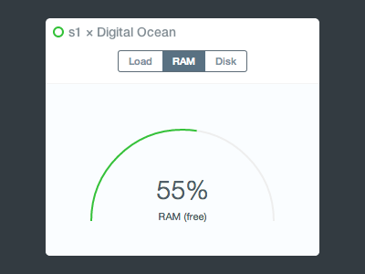 Server status dashboard server status dashboard gauge canvas flat disk ram php line ios 7