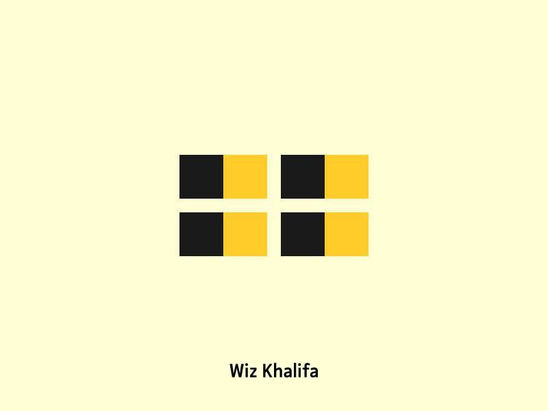 Wiz Khalifa black yellow wiz khalifa artist icons