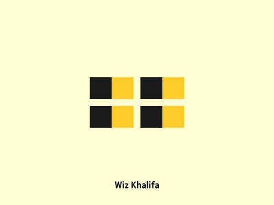 Wiz Khalifa black yellow wiz khalifa artist icons
