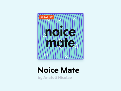 Noice Mate azure blue card playlist spotify mate noice