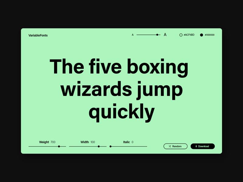 Settings — Dail UI Challenge #7 web website settings minimal variable font typography design dailyuichallenge dailyui