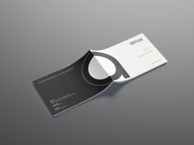 The Ablute International brochure  design graphic