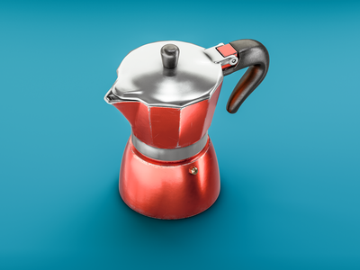 #stacemodajedemo Mokapot illustration modo 3d bialetti espresso mokapot coffee