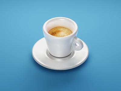 #stacemodajedemo Espresso shot modo illustration 3d foam coffee espresso