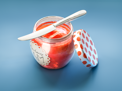 #stacemodajedemo Strawberry Jam modo 3d cgi illustration food marmelade jam strawberry