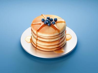 #stacemodajedemo Pancakes modo illustration 3d render cgi tasty szrup maple food pancake