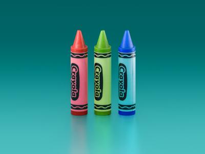 Color crayola colors crayons vintage windows paint icon cgi 3d illustration