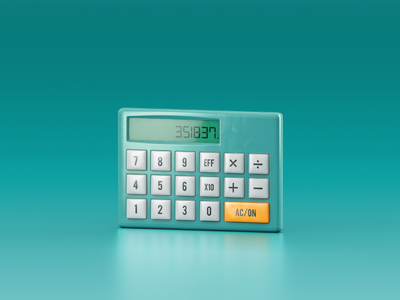 Calculator windows icon cgi 3d illustration