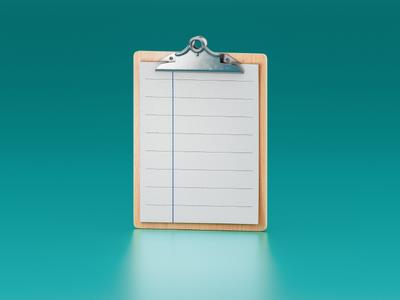 Clipboard Viewer windows icon cgi 3d illustration