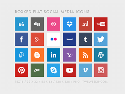 Free Flat Social Media Icons flat social media icons png free buttons icon dropbox youtube facebook twitter web icons