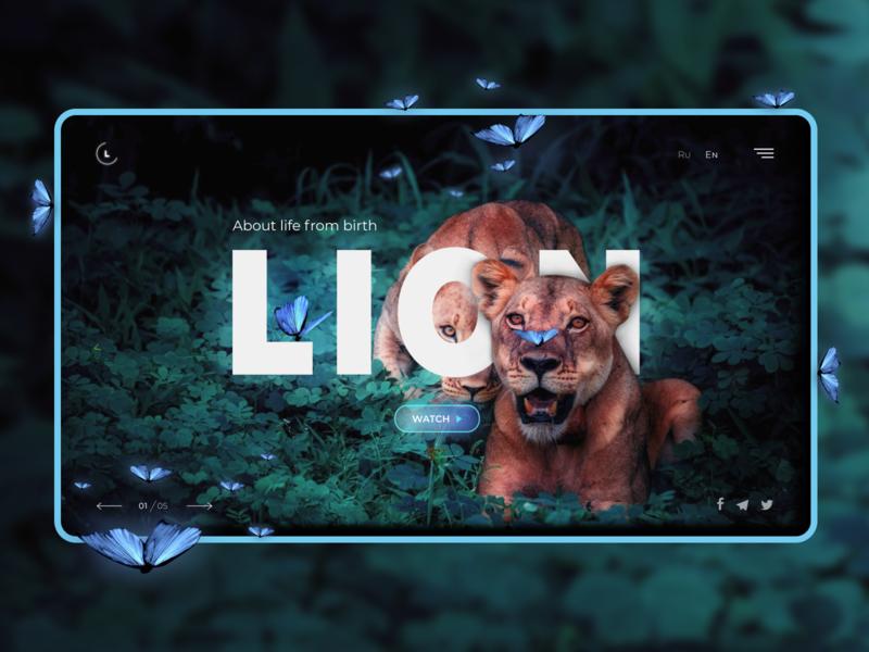About lions Web design UI lions photoshop figma website minimal ux vector website design webdesign web design