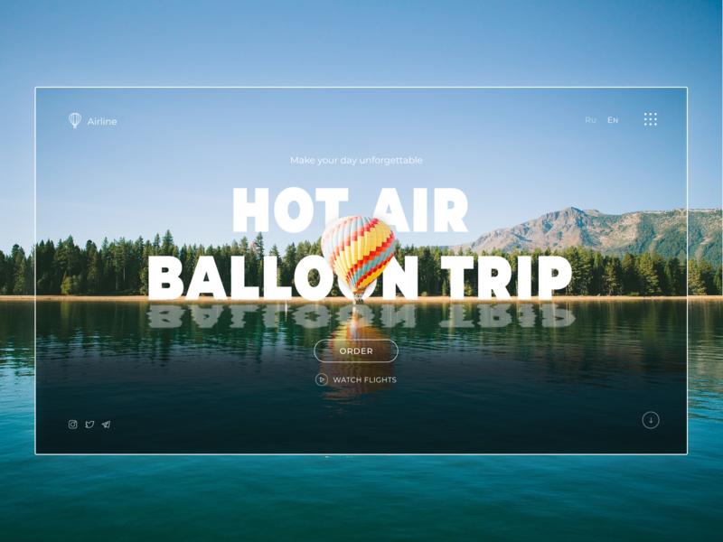 Baloon trip UI Web design web app minimalism site design nature trip baloon ui  ux figma
