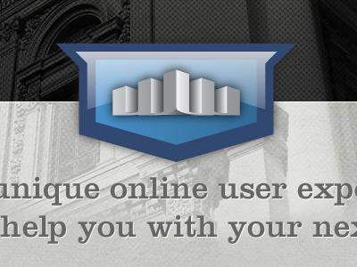 Rebrand Crest Concept vector blue illustration photoshop web design