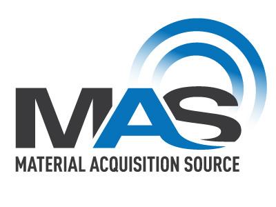 MAS Logo vector blue illustration logo design