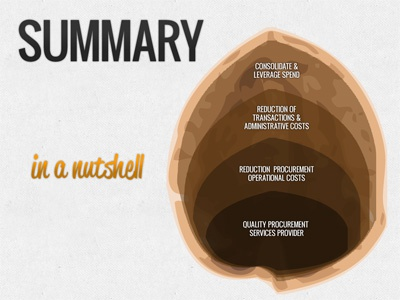 In A Nutshell infographic illustrator photoshop powerpoint presentation brown
