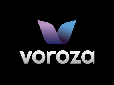 Voroza Logo vector logo blue purple illustrator