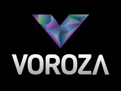 Voroza Logo Option 2 vector logo blue purple illustrator