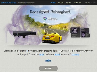 Portfolio Site one-page blue responsive portfolio photoshop illustrator ui