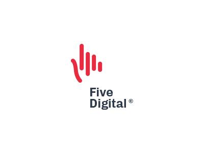 Five Digital monogram identity design startup software branding mark logo