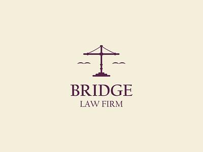 Law Firm Logo line icon drawing art design illustration branding vector firm emblem logo bridge advocate law firm law