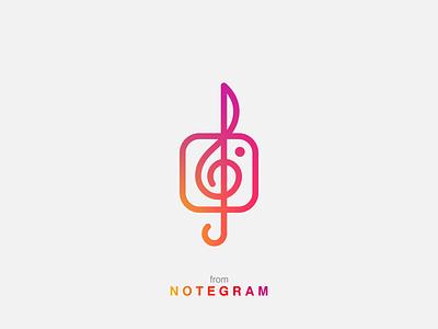 Notegram instagram logo muisc logo icon note logo instagram minimal logo music note music note