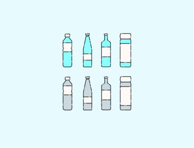 Simple Bottle - Simple Icons Illustration