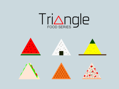 Triangle Food Series - Icons Illustration