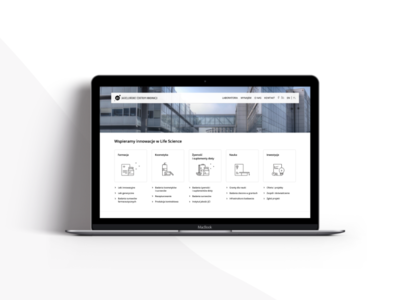 Web site for Jagiellonian Center of Innovation