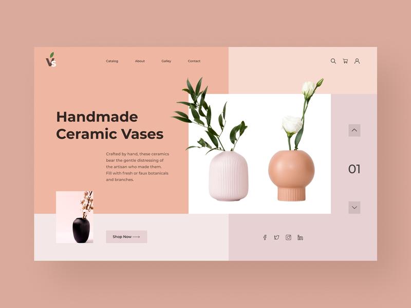 vases logo typography web ux ui design