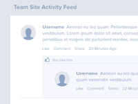 Activity Feed Wireframe