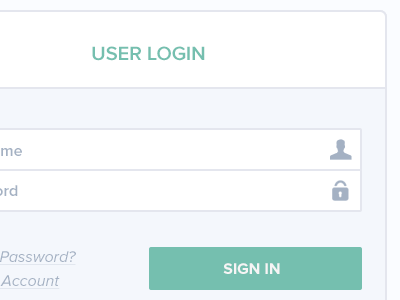 Quick Login Window ui login log in window modal sign in sign up icons form buttons input