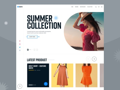 Martin — Clothing eCommerce Website shopping cart online shop product branding interface landingpage product header uiux ui figma shop martin shoping minimal ecommerce store summer