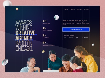 Marketing Agency Landing Page homepage typography creative logo team brandig agency website marketing agency 2021 trends digital marketing online marketing ceo landingpage chicago agency creative awards home figma uiux ui