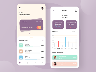 Finance App wallet invest banking account bank money finance app finances finance clean statistic mobile app app design uiuxdesign mobile design android app ui design uiux mobile